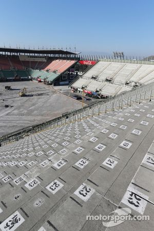 Stadyum bölgesi inşaat çalışmaları