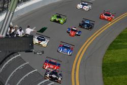 Largada: #60 Michael Shank Racing com Curb/Agajanian Ligier JS P2 Honda: John Pew, Oswaldo Negri, A.