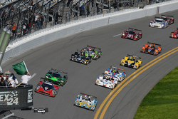PC组起步: #16 BAR1 Motorsports Oreca FLM09: Johnny Mowlem, Tom Papadopoulos, Tomy Drissi, Brian Alder,