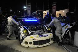 #911 Porsche North America Porsche 911 RSR: Nick Tandy, Marc Lieb, Patrick Pilet, Michael Christensen en difficulté
