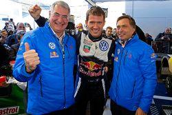 El ganador Sébastien Ogier, de Volkswagen Motorsport