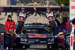Terceiro lugar Andreas Mikkelsen e Ola Floene, Volkswagen Polo WRC, Volkswagen Motorsport