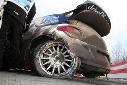 Sébastien Loeb e Daniel Elena, Citroën DS3 WRC, Citroën Total Abu Dhabi World Rally Team com problem