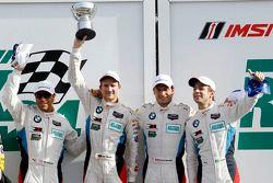 GTLM podium: 2eBill Auberlen, Dirk Werner, Augusto Farfus, Bruno Spengler