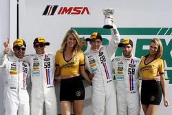 GTD podium: second place Madison Snow, Jan Heylen, Patrick Dempsey, Philipp Eng