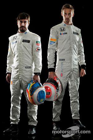 Fernando Alonso et Jenson Button, McLaren Honda