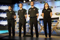 Tony Stewart, Kevin Harvick, Kurt Busch et Danica Patrick, Stewart-Haas Racing