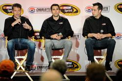 Dakoda Armstrong, Aric Almirola, Sam Hornish Jr.