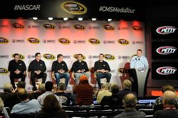Dakoda Armstrong, Aric Almirola, Sam Hornish Jr.