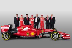 Esteban Gutierrez, Kimi Räikkönen, Sebastian Vettel, mit dem Ferrari SF15-T