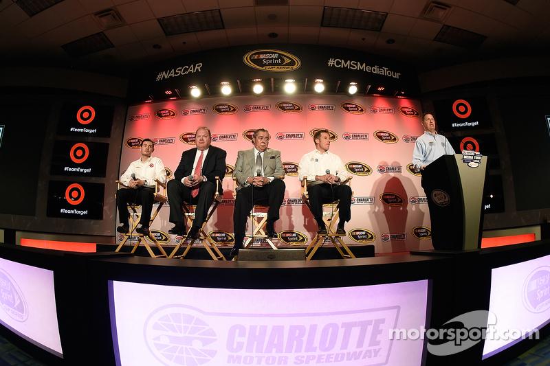 Kyle Larson, Chip Ganassi, Felix Sabates and Jamie McMurray