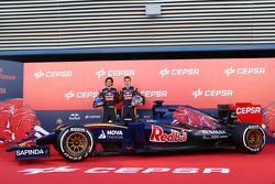 Max Verstappen and Carlos Sainz Jr. with the Toro Rosso STR10