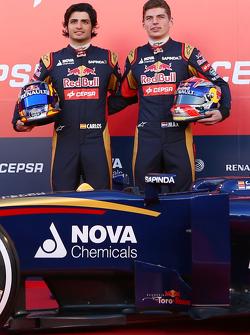 Карлос Саинс-мл. и Макс Ферстаппен. Запуск Toro Rosso STR10, презентация.