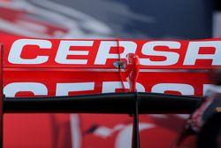 Detail teknis bagian sayap belakang Toro Rosso