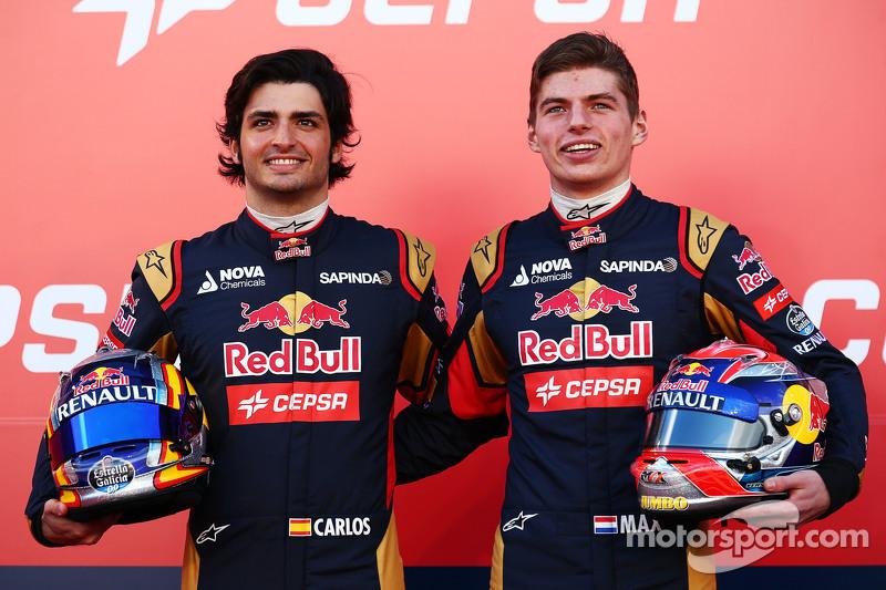 Com as saídas de Kvyat e Vergne, Max Verstappen e Carlos Sainz assumiram as vagas da Toro Rosso. Eles foram companheiros durante um ano e meio.