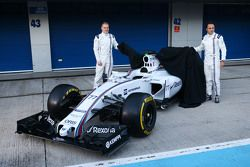 (L to R): Valtteri Bottas, Williams and team mate Felipe Massa, Williams unveil the Williams FW38
