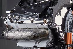 Details van de krachtbron van de Mercedes AMG F1 W06