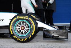 Mercedes AMG F1 W06 neus detail