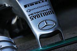 Mercedes AMG F1 W06 neus