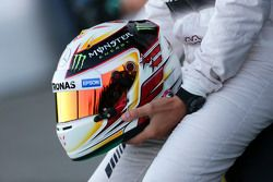 The helmet of Lewis Hamilton, Mercedes AMG F1
