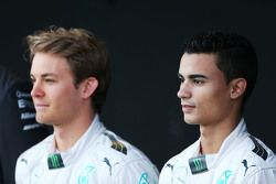 (L to R): Nico Rosberg, Mercedes AMG F1 with Pascal Wehrlein, Mercedes AMG F1 Reserve Driver