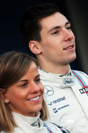 (L to R): Susie Wolff, Williams Development Driver with Alex Lynn, Williams Development Driver
