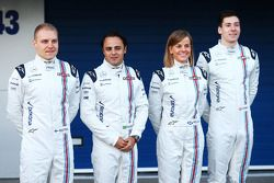 (L to R): Valtteri Bottas, Williams with Felipe Massa, Williams; Susie Wolff, Williams Development D