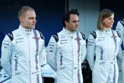 (L to R): Valtteri Bottas, Williams with Felipe Massa, Williams and Susie Wolff, Williams Development Driver
