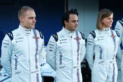 (L to R): Valtteri Bottas, Williams with Felipe Massa, Williams and Susie Wolff, Williams Development Driver