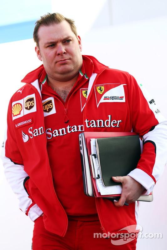 Dave Greenwood, Ferrari-Renningenieur