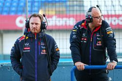 Christian Horner, Jefe de equipo de Red Bull Racing con Rob Marshall, Oficial en Jefe de ingeniería de Red Bull Racing.