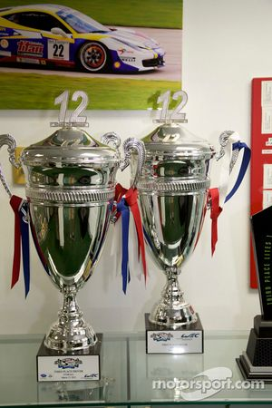 Sebring 12 Hours trophies in the 8Star Motorsports workshops