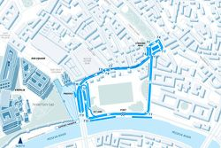 Track map of the Formula E Moscow race