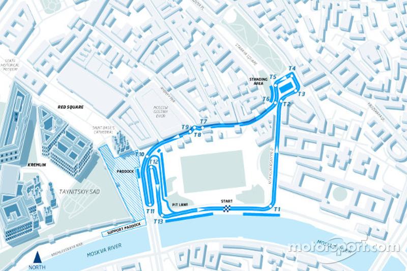 Plan du circuit de Moscou, Formule E