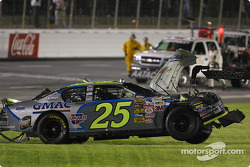 Wrecked car of Brian Vickers