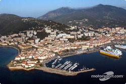 Beautiful Ajaccio, host city of the Tour de Corse