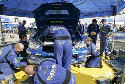 Le parc d'assistance Subaru World Rally Team