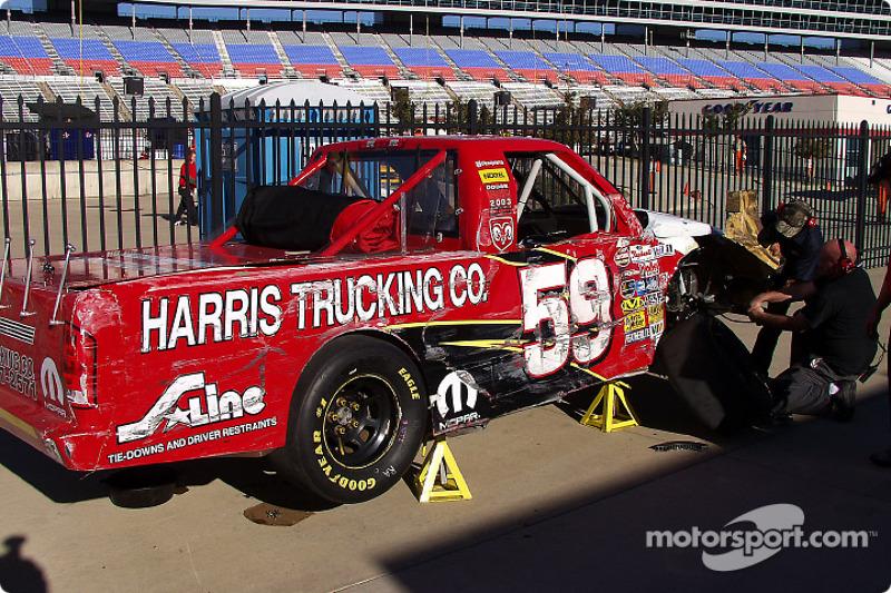 Dégâts sur le Truck de Sammy Sanders