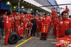 Rubens Barrichello ready for a pit stop