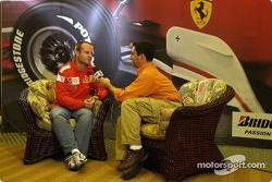 Bridgestone basın toplantısı: interview for Rubens Barrichello
