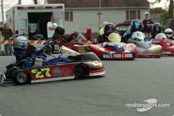 4-cycle kart racing action on the streets of Milford