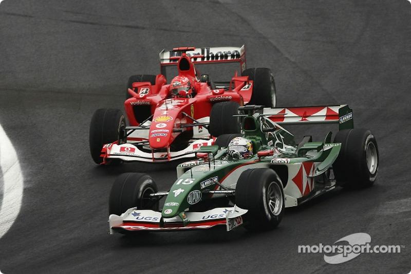 Christian Klien y Michael Schumacher