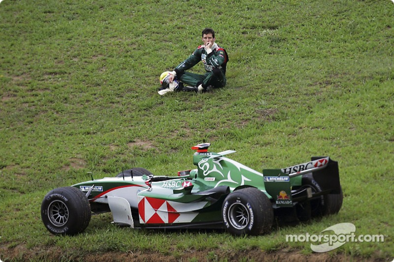 2004 Brezilya GP, Mark Webber vs Christian Klien, Jaguar