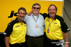 Eddie Jordan avec David Marron de B&H et Ian Phillips