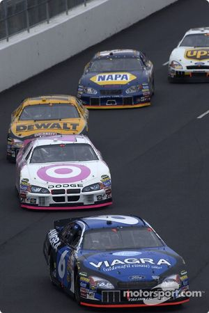 Mark Martin leads Casey Mears
