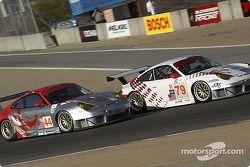 La Porsche 911 GT3 RSR n°79 J-3 Racing : Tim Sugden, Justin Jackson, et la Porsche 911 GT3 RSR n°44