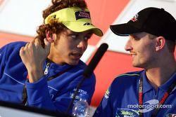 Valentino Rossi, Yamaha; Colin Edwards, Honda
