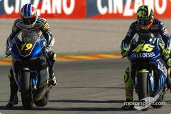 Oliver Jacque y Valentino Rossi