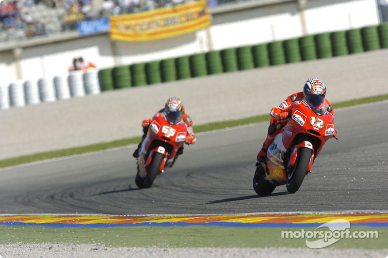 Loris Capirossi y Troy Bayliss