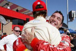 Max Papis celebrates pole position